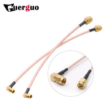 RP RG316 15cm or Customized SMA Male Right Angle To SMA Male Right Angle Pigtail Cable RF Wifi Router