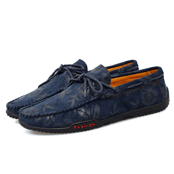 2019 Autumn Classic Loafers Male Flower Men Shoes Casual Comfortable Man Driving Shoes Moccasins Formal Loafers Male HC-438