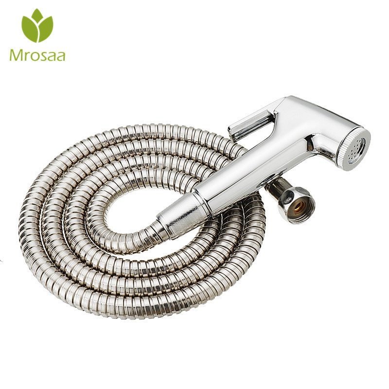 Handheld Portable Diaper Bidet Set Toilet Shattaf Sprayer Bathroom Toilet Bidet Shower Head Nozzle With Stainless Steel Hose