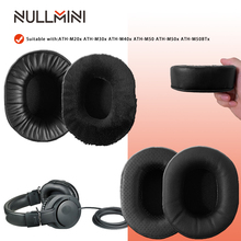 Nullmini Vervanging Oorkussen Voor ATH M20x ATH M30x ATH M40x ATH M50 ATH M50x ATH M50BTx Hoofdtelefoon Thicken Leer Earmuff