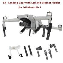 Yx Voor Mavic Air 2 Landingsgestel Met Led Koplamp Set Been Ondersteuning Protector Extension Uitgebreide Bracket Houder Met 1/4 schroef