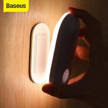 Baseus manyetik gece lambası insan vücudu indüksiyon Led gece ışığı lambası şarj edilebilir vücut indüksiyon lamba duvar lambası