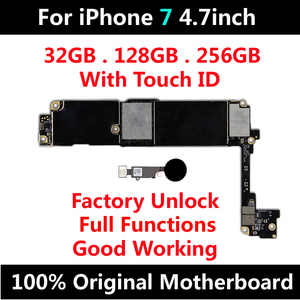 Image 2 - 32GB 128GB 256GB For iPhone 7 4.7inch Motherboard Unlock With Full Chips Touch ID Original IOS Update Completed Logic Board