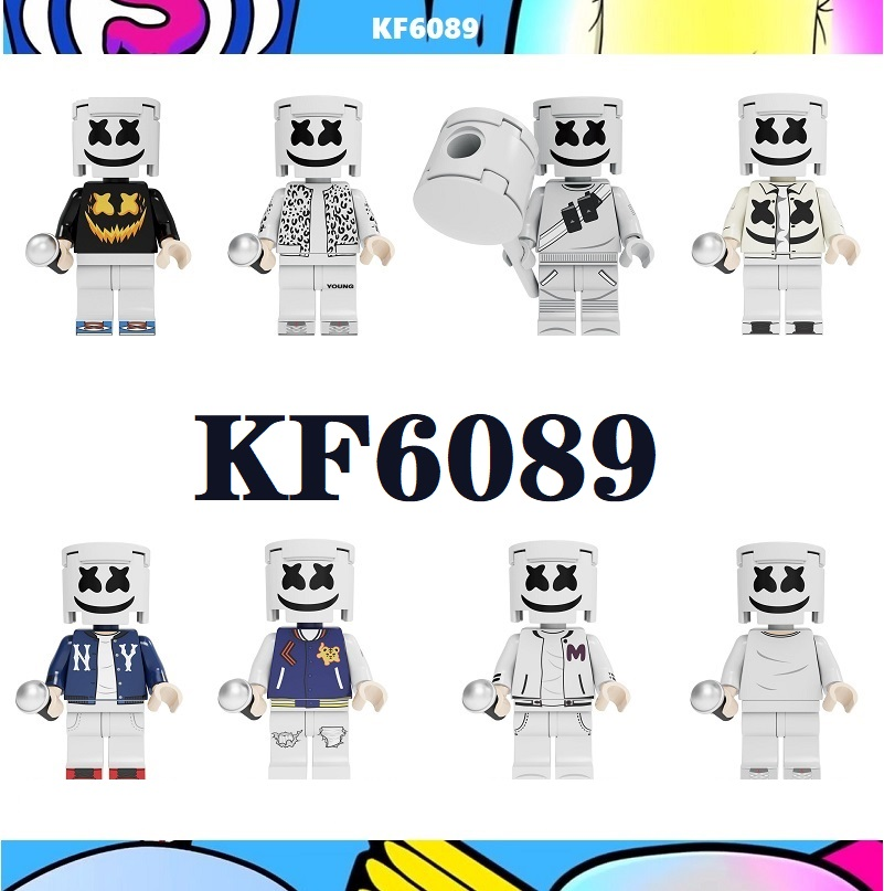 Single Sale Famous DJ Singer AIM Agent Pennywise Costume Adult Scary Clown Building Blocks Children Toys KF6089