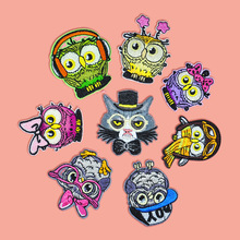100pcs/lot Embroidery Patches Letter Clothing Decoration Accessories Animal Cute Owl Shirt Biker Diy Iron Heat Transfer Applique zotoone owl animal heat transfer patches for clothing sticker diy cute iron on letter transfert thermocollants t shirt printed g