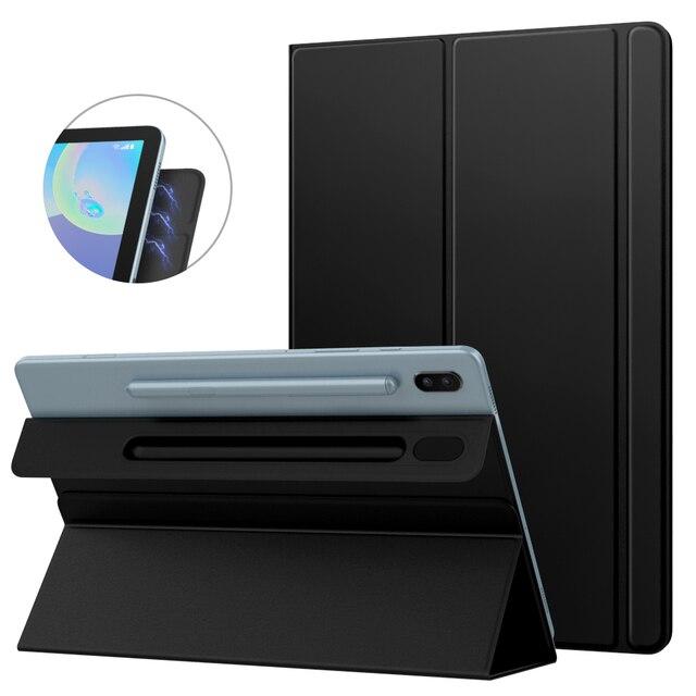 Akıllı Folio kılıf Samsung Galaxy Tab için S6 10.5 2019, ince hafif akıllı kabuk standı kapak, güçlü manyetik adsorpsiyon için Tab