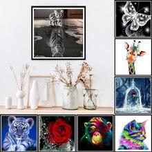 5D DIY Diamond Flower Arrangement Vase Cross Stitch Embroidery Mosaic Home Decor