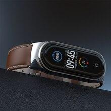 Para mi banda 5 pulseira de couro genuíno para xiaomi mi banda 4 pulseira miband 4 3 pulseira do plutônio novo estilo pulseira mijobs design