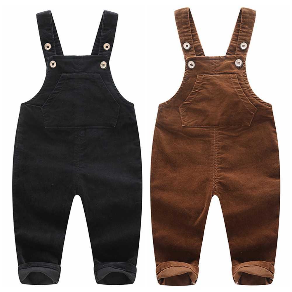 Chumhey 1-4T çocuk işçi tulumu bahar küçük kızlar erkek kot pantolon çocuk tulum denim pantolon bebek kıyafetleri giyim