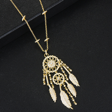 GODKI Luxury Dreamcatcher Stackable Pendant Necklace Full Cubic Zircon Fashion Charm Women Party Jewelry Gift 2020