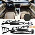 5D внутренняя Глянцевая наклейка из углеродного волокна для BMW 3 серии E90 2005-2012