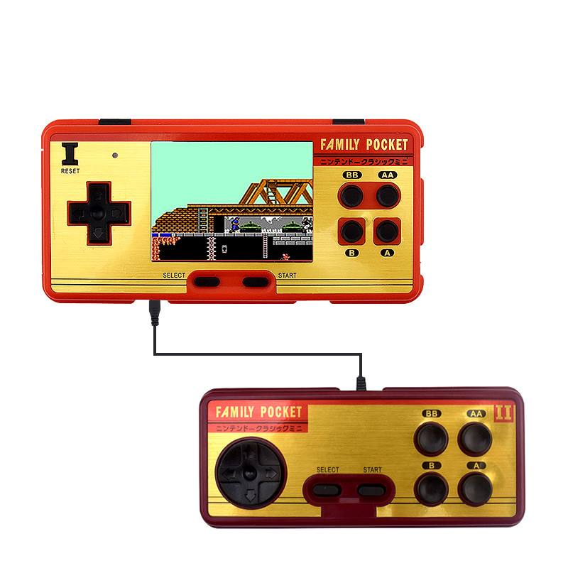 Data Frog Portable Handheld Game Players Built in 638 Classic Games Console 8 Bit Retro Video Game For Gift Support AV Out Put(China)