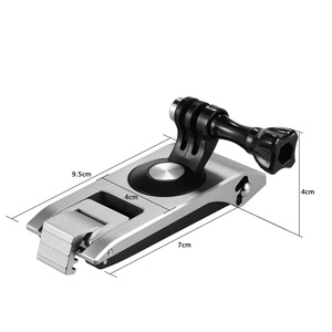 Image 2 - Aluminum Action Camera Backpack Shoulder Strap Clip Mount Strap Holder 360° Rotatable 6 level CNC Technology Action Camera Mount