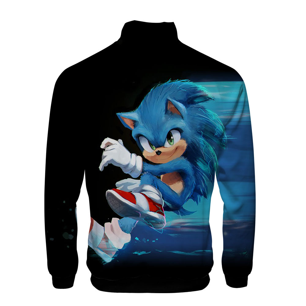 Anime Sonic The Hedgehog 3d Print Men S Jacket Slim Stand Collar Zipper Jacket Male Tracksuit Streetwear Hip Hop Hoodie For Boys Fur Leather Jackets Guys Coats From Zhouzhaoyu 21 81 Dhgate Com