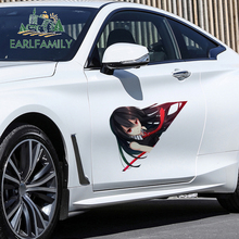 EARLFAMILY ملصقات سيارة كرتونية ، Akame Ga ، 43 سنتيمتر × 35 سنتيمتر ، فتاة بيك ، ديكور ، جسم السيارة ، الصندوق الخلفي للسيارة