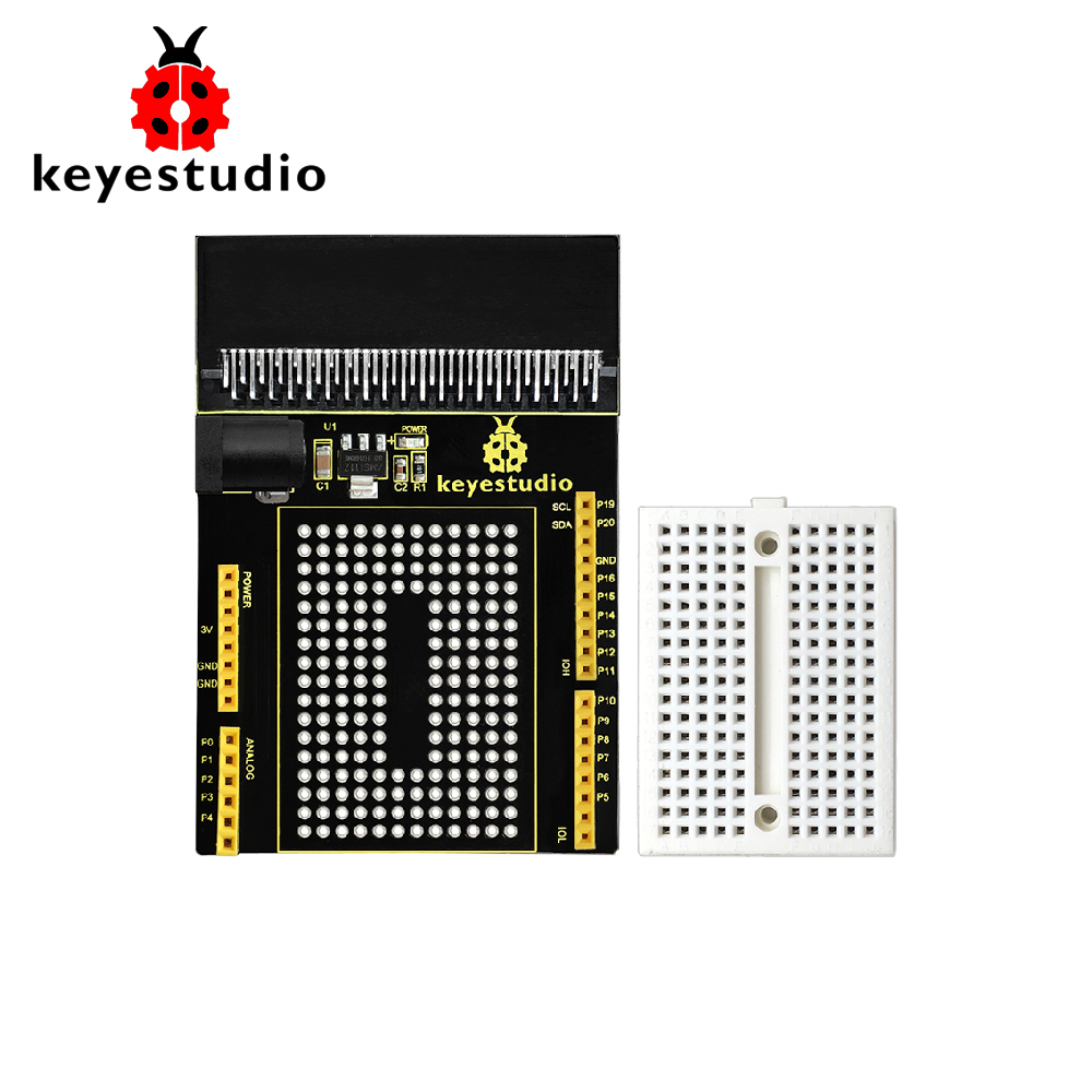 Keyestudio Prototyping Shield V1 With Small Breadboard For BBC Micro:Bit