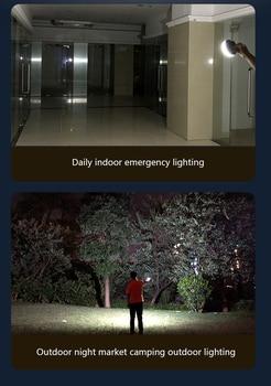 9900mAh LED Tent Light Rechargeable Lantern Portable Emergency Night Market Light Outdoor Camping Bulb Lamp Flashlight Home 4