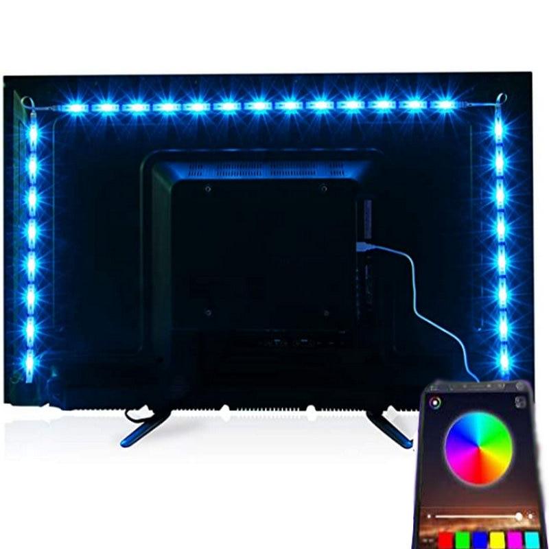 5v usb led tiras de luz smd 5050 com luz de fundo da tevê blueoth, decoração da casa, corda rgb em mudança da cor