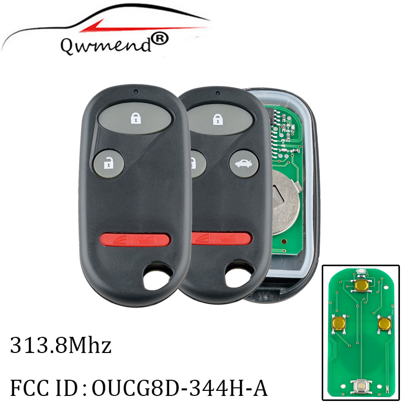 Replacement 313.8Mhz Remote key For <font><b>Honda</b></font> Element 2005-2011 CRV <font><b>2002</b></font>-2004 <font><b>Civic</b></font> <font><b>2002</b></font>-2005 For <font><b>Honda</b></font> Element OUCG8D-344H-A image