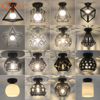 Ceiling light ceiling lamp iron living room lights modern deco salon for dining room hanging led light fixtures surface mounted