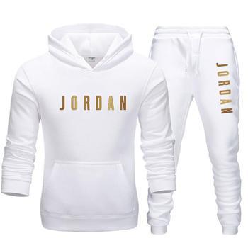 2020 New sportswear men suit printed hooded sweatshirt suit wool hoodie sportswear suit sweatpants hoodie men 2-piece set