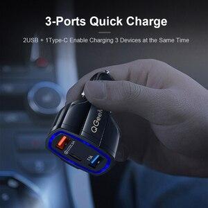 Image 5 - Qgeem Qc 3.0 Usb C Auto oplader 3 Poorten Quick Charge 3.0 Snelle Oplader Voor Auto Telefoon Opladen Adapter voor Iphone Xiaomi Mi 9 Redmi