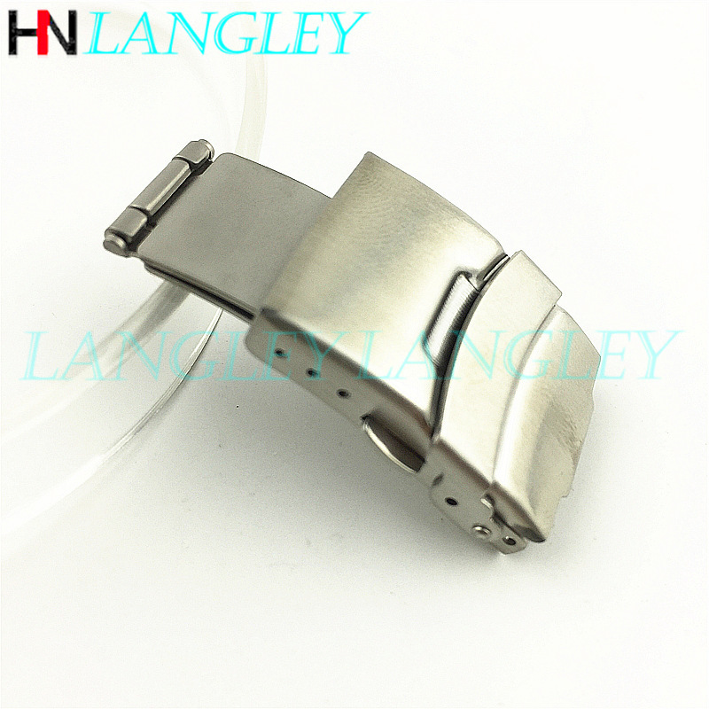 12/14/16/18/20/22/24/26 Mm Watch Buckle Double Click Stainless Steel Buckle Watch Push Button Fold Deployment Clasp Strap Buckle