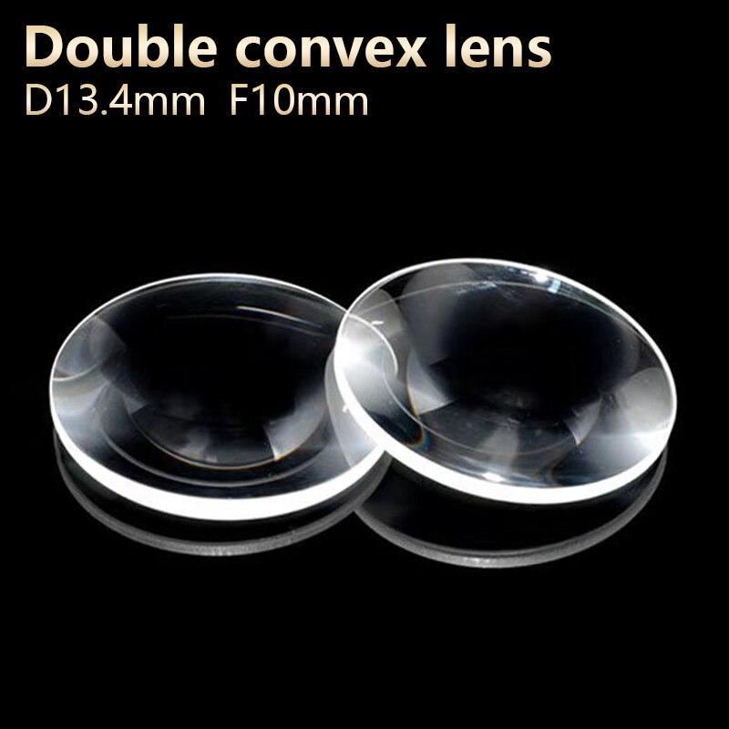 Двойные выпуклые линзы, увеличительное стекло, линза, окуляр, телескоп «сделай сам», проектор, оптический эксперимент, диаметр 13,4 мм, диаметр 10 мм