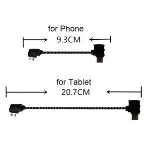 Image 1 - Data Line for DJI Mavic Mini Pro Air Mavic 2 Pro Zoom Drone Accessories Tablet Micro USB Reverse Type C Port Cable Connector