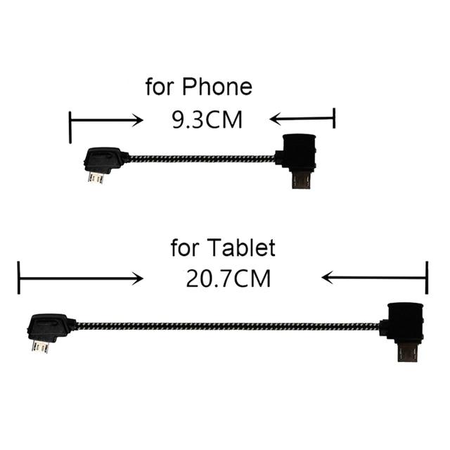 Data Line for DJI Mavic Mini Pro Air Mavic 2 Pro Zoom Drone Accessories Tablet Micro USB Reverse Type C Port Cable Connector