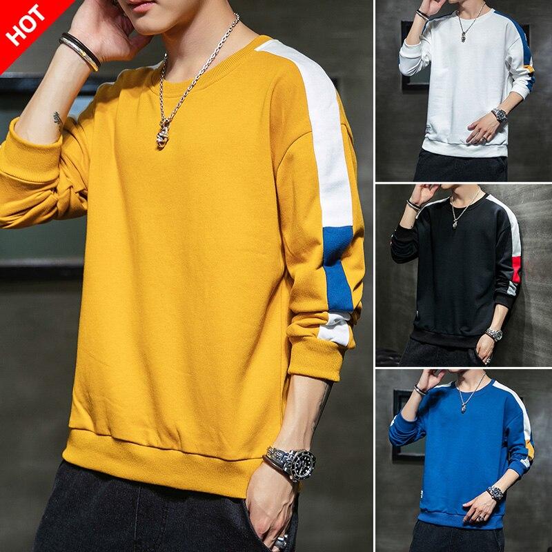 Sweatshirt Men Sportwear Long Sleeve Hoodie Men Casual Hip Hop Sweatshirt Streetwear Solid Men Hoodies 25
