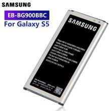Оригинальная запасная батарея Samsung для Galaxy S5 G900M G9008V G900S G900F 9006V 9006W 9008W EB-BG900BBE/BBU