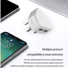 Universal UK Wall Charger Plug Adapter 5V 2.1A Dual USB Ports Travel Charger Charging For IPhone 8 X XR Samsung S9 xiaomi meizu mu11 36w dual usb ports fast charging travel charger