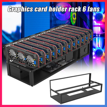 GPU Mining Rig Steel Opening Air Frame Mining,Mining Frame Rig Case Up to 6/8/12 GPU For Crypto Coin Currency Mining 1