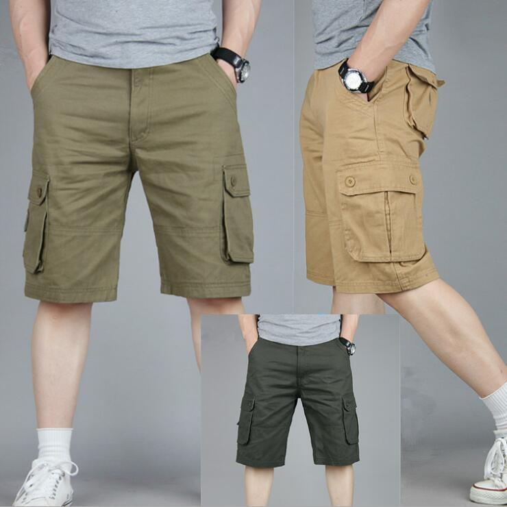 XHS157 Summer 2019 New Casual Shorts Men's Wear Men's Summer Overalls Multi-bagged Men's Size Five-minute Trousers