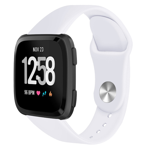 Suitable for F Versa / Versa lite smart watch Solid color reverse buckle silicone TPU strap Lahore