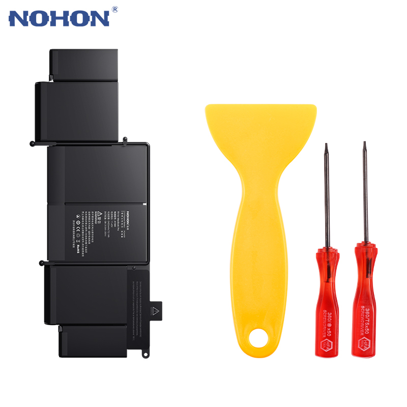 New Original NOHON Laptop Battery A1582 For Apple MacBook Pro 13 Retina A1502 2015 year ME864 ME865 MF839 MF840 MF841 6400mAh image