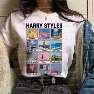 Pink Love On Tour Harry Styles graphic t shirt women Watermelon sugar Tops Harajuku TPWK butterfly Tees Korean clothes female