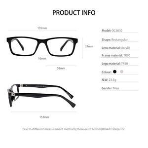 Image 5 - OCCI CHIARI okulary do czytania mężczyźni blokujące niebieskie światło okulary do czytania kobiety TR90 prezbiopia okulary komputerowe + 1.5 + 2.0 + 2.5 do + 4.0
