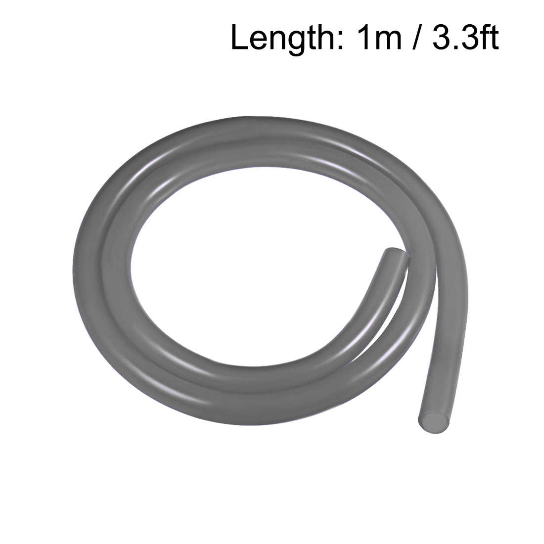sourcing map Silicone Tubing 2mm ID x 6mm OD 1m Flexible Silicone Rubber Tube Air Hose Water Pipe for Pump Transfer Clear