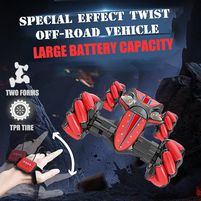 Remote Control Car Gesture Induction Remote Control Stunt Car One-button Deformation Climbing Off-road Vehicle Children Cr Car