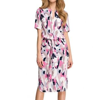 Dress 2020 Boho Print Short Sleeve