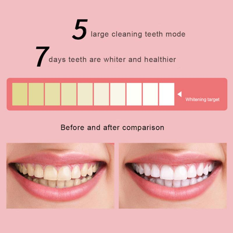 Automatic Electric Toothbrush Set Ultrasonic USB Toothbrush Professional Whitening Toothbrush Adult 5 Mode Electric Toothbrush
