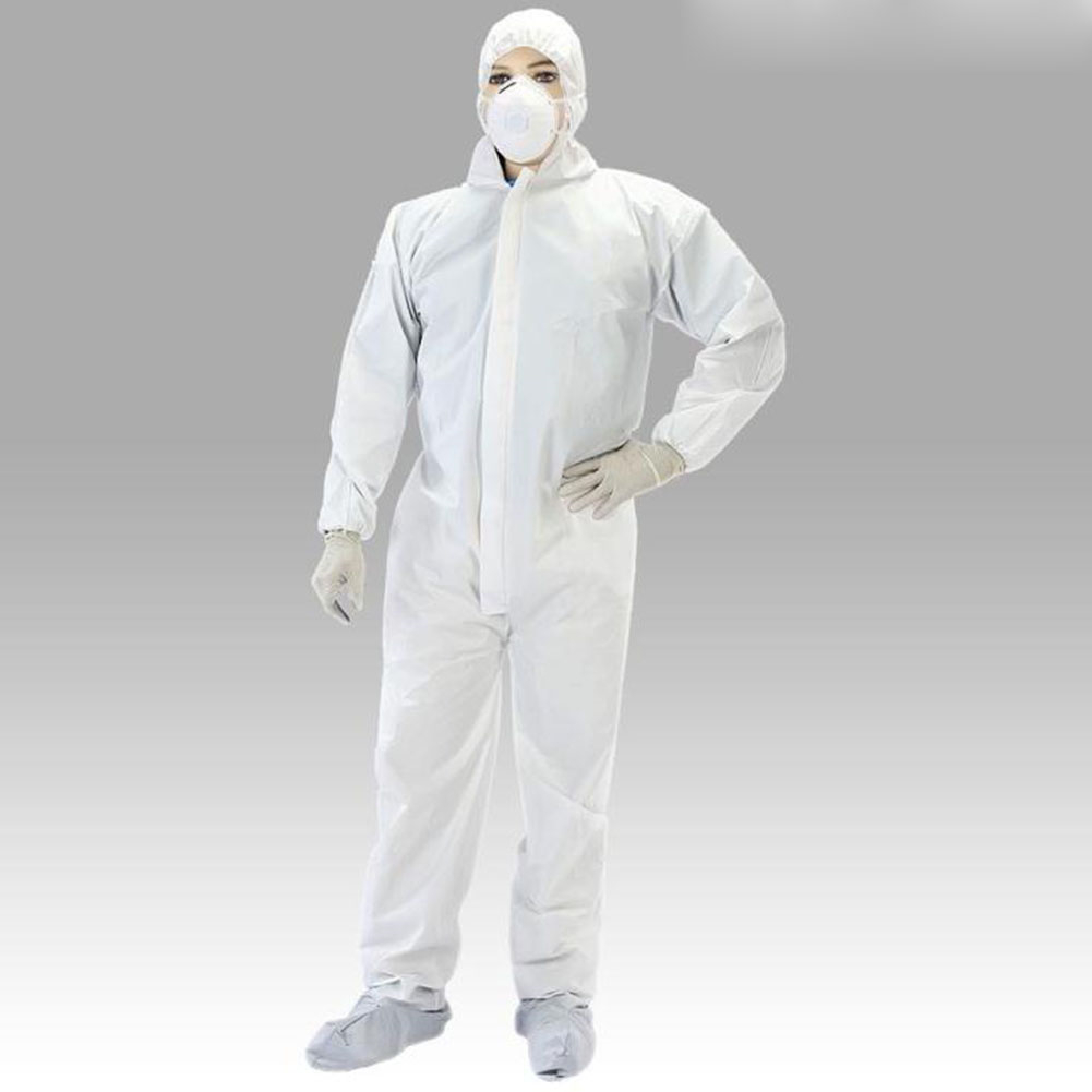 Anti-Static Antibacterial Coverall Work Clothes Disposable Overalls SMS Type Protective Clothing Work Jumpsuit Hooded