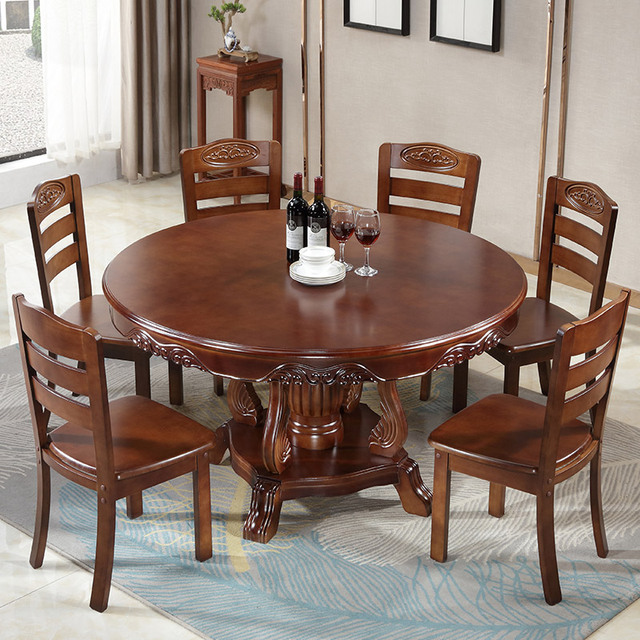 Round Dining Table Set w/ Turntable  2