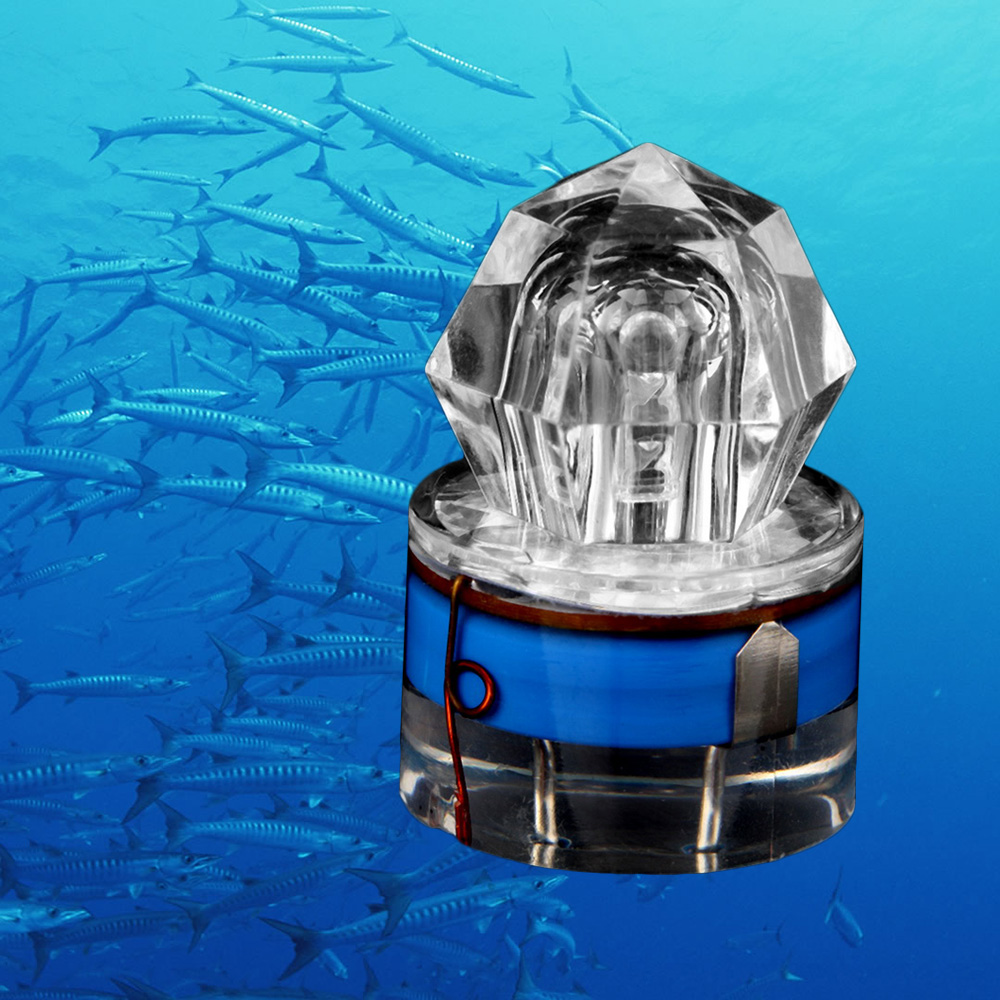 2020 New LED Deep Drop Underwater Diamond Fishing Flashing Light Bait Lure Squid Strobe Ultra-Transparent Acrylic Shell