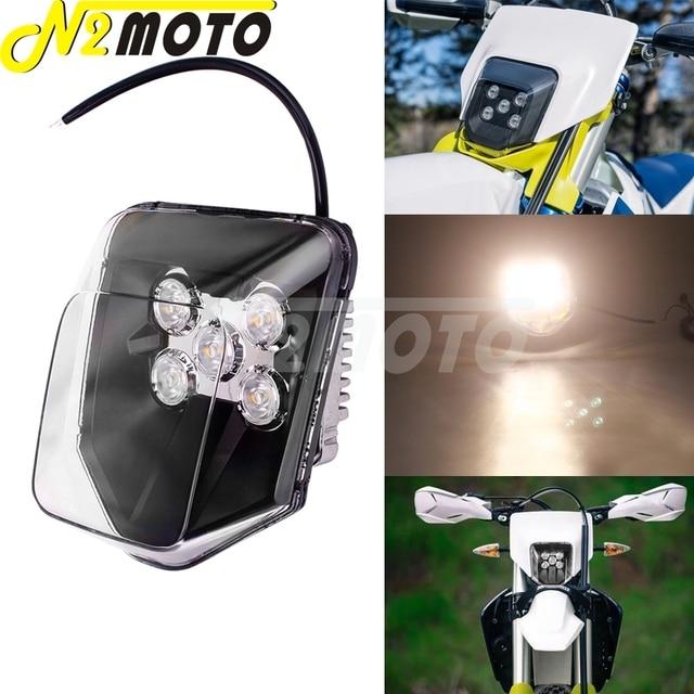 Supermoto LED Headlight For Hus FE 250/350/450/501 TE 150/250/300 250i/300i 2017 2019 Off Road MX Enduro Dual Sport Head Light