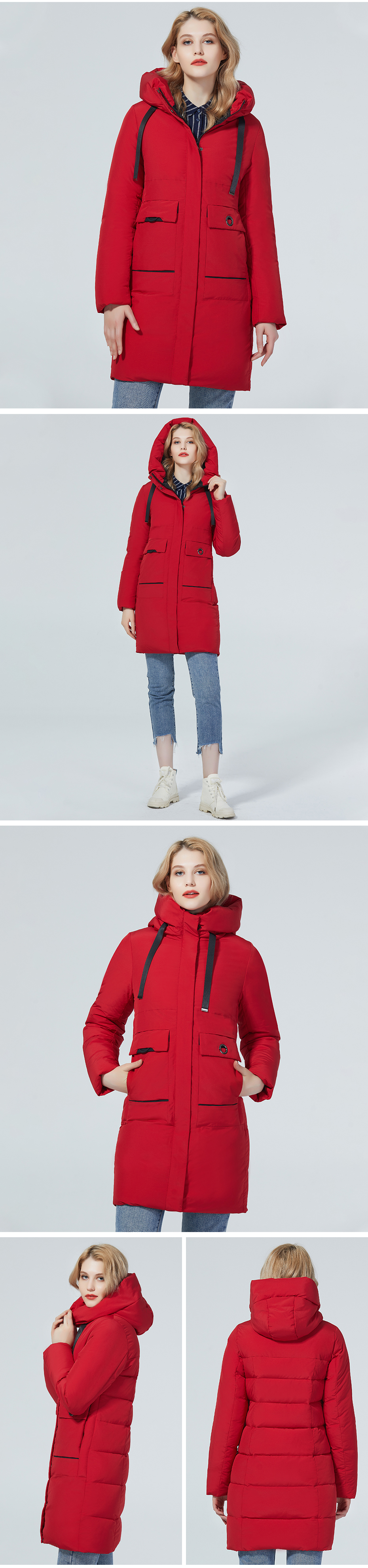 Diaosnowly 2020 new winter coat for women warm fashion woman jacket long female high quality brand jackets and parkas for women winter clothes outwear coat women long