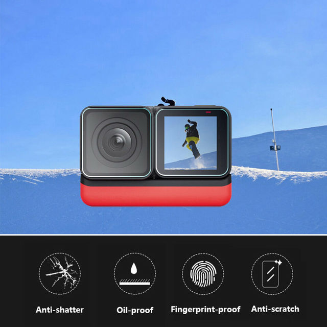 For Insta360 ONE R Twin Edition Tempered glasses Insta 360 ONE R 4k wide angle Camera Len Film Glass Protection Accessories