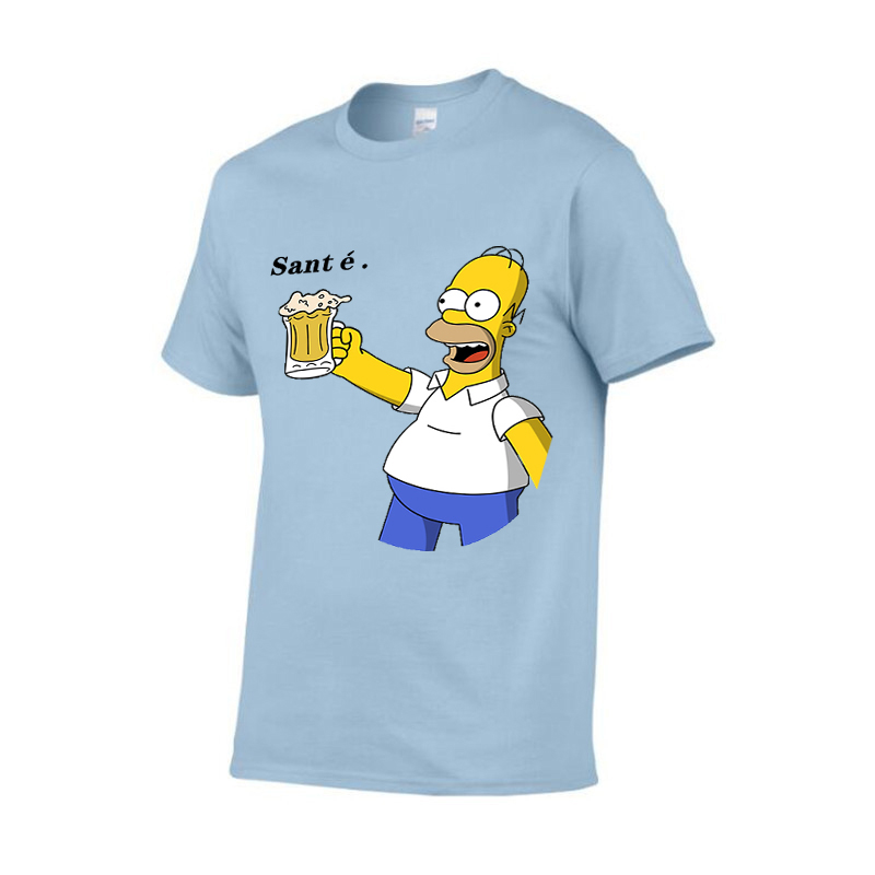 Summer new Party Fashion t-shirt men's / women's cotton leisure o-neck t-shirt men's party short sleeve T-shirt French Santé.